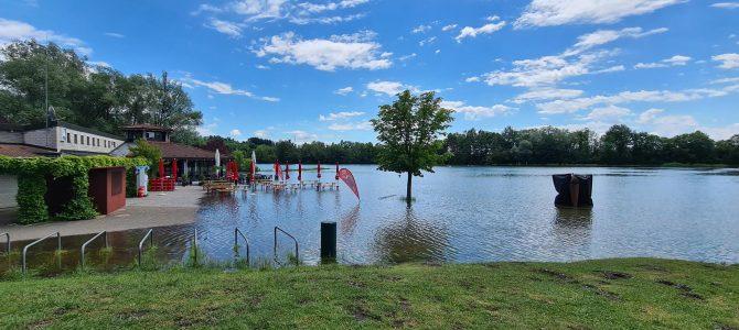 Freizeit- und Badeanlage wegen Hochwassers bis auf Weiteres gesperrt